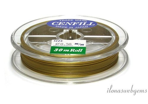 Cenfill stainless steel coated thread gold 0.36mm (7 wires)