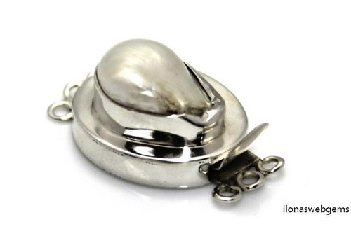 Sterling silver box lock with freshwater pearl