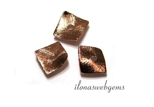 1 piece Rosé gold plated chips approx. 8x8mm