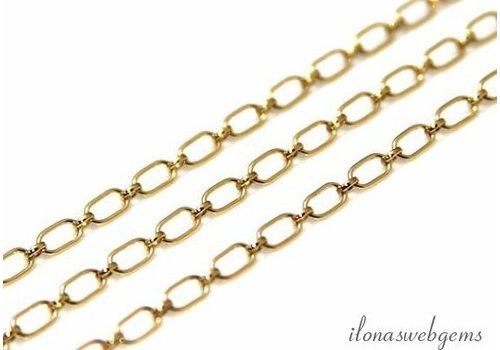 1cm 14k/20 Gold filled schakels / ketting ca. 6x3.4mm