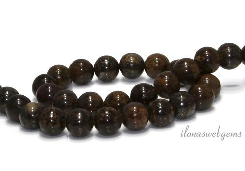 Bronzite beads around 10mm