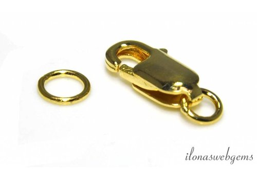 Vermeil lobsterslotje ca. 14x6mm