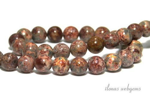 Leopard skin Jasper beads around 8mm