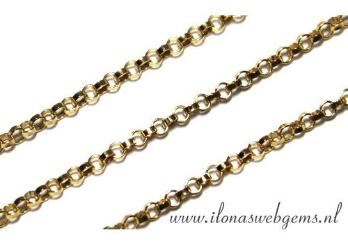 15.5cm Goldfilled Jasseron schakels / ketting