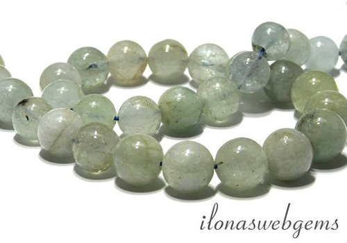 Aquamarine beads round app. 12mm