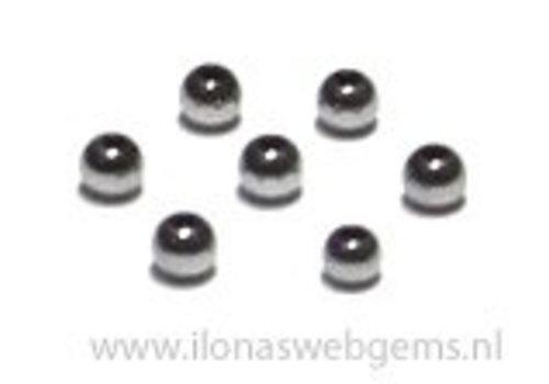Ca. 200 stuksmini Hematiet kralen / spacer ca. 2.3mm