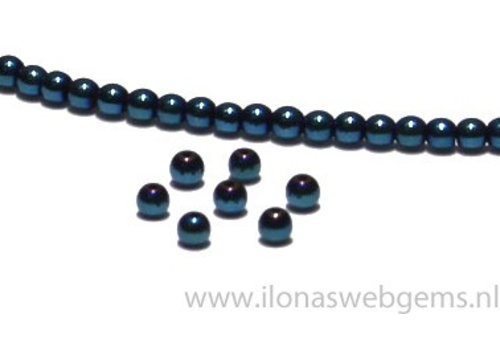 app. 140 pieces mini hematite beads / spacer app. 3mm