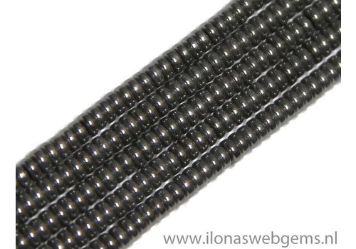 app. 370 pieces mini hematite beads / spacer app. 3x1mm