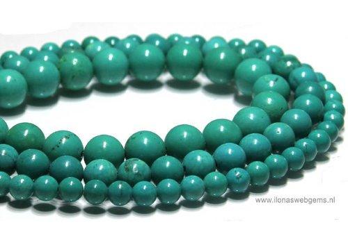 Howliet kralen turquoise rond  ca. 10mm