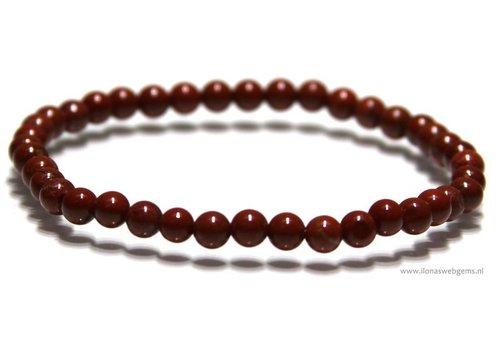 Jaspis Perlen Armband ca. 4.2mm