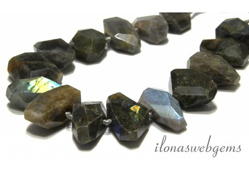 Labradorite beads milling shape LOT!