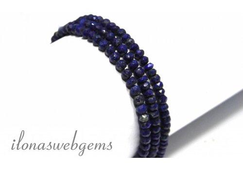 Lapis lazuli kralen facet rondel ca. 4mm
