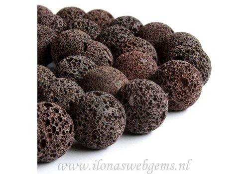 lavastone brown round app. 20mm