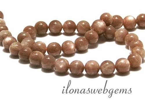 Moonstone beads around 9 mm
