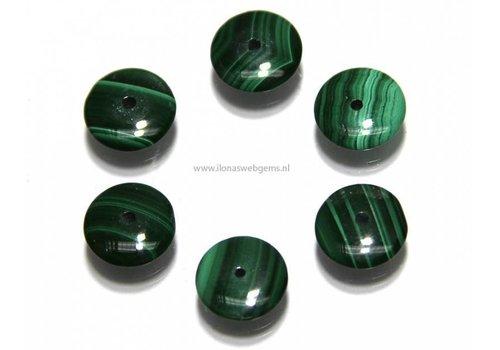 1 Malachiet  Perle disc ca. 10x3mm AA Qualität