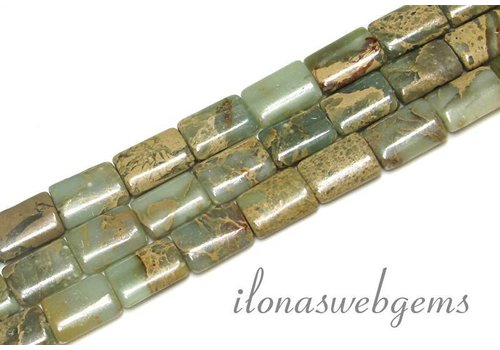 Serpentin Perlen ca. 14x10x4mm