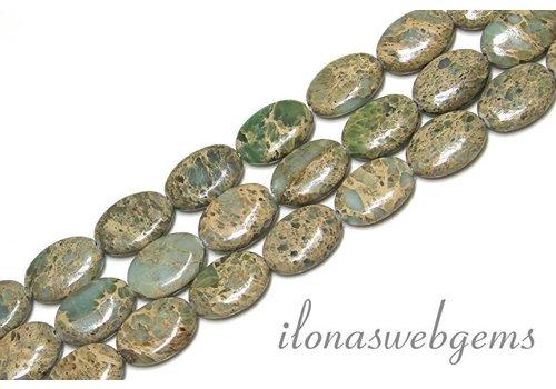 Serpentin Perlen ca. 18x13x5mm