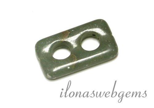 Serpentin Perle ca. 25x15x3.5mm