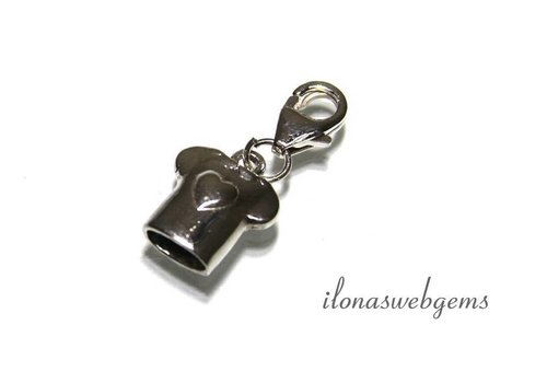 Sterling Silver Charm Lucky charm `T-shirt` app. 11x10mm