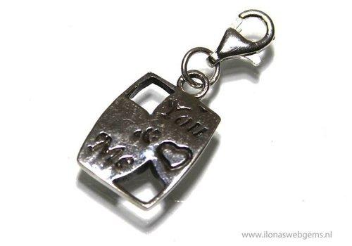 925/000 Silber Lucky Mini Schmuck Anhänger `you & me` ca. 14x10mm (Zi16-19)