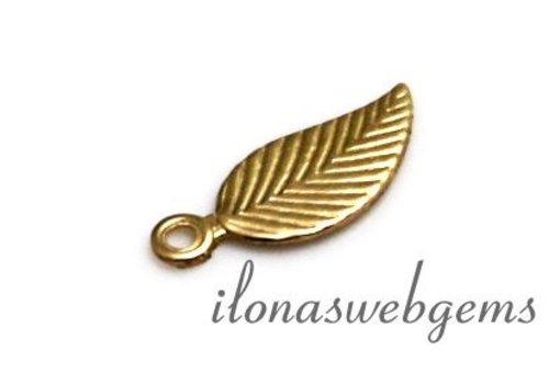 14k / 20 Gold filled charm leaf