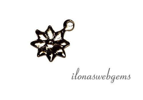 Gold filled Charm Flower app. 10x8mm