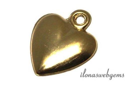 Gold filled Mini Schmuck Anhänger hart ca. 12x10x1.5mm
