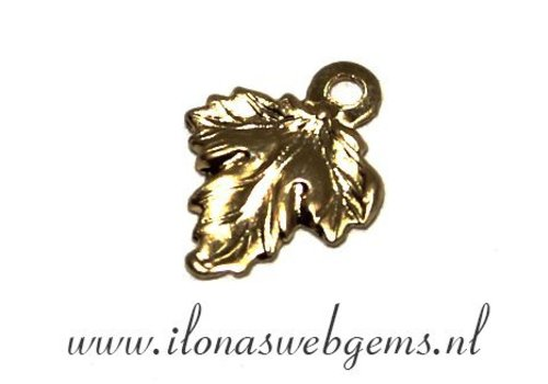 14k / 20 Gold filled charm leaf