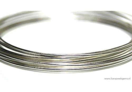 1cm sterling silver wire standard. 0.7mm / 21GA