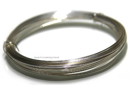 1 cm. Silverfilled wire normally around 1 mm / 18 gauge