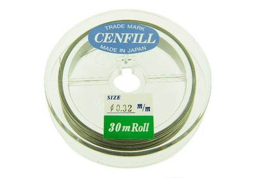 Cenfill RVS gecoat rijgdraad 0.32mm (7 draads)
