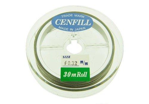 Cenfill RVS gecoat rijgdraad 0.32mm