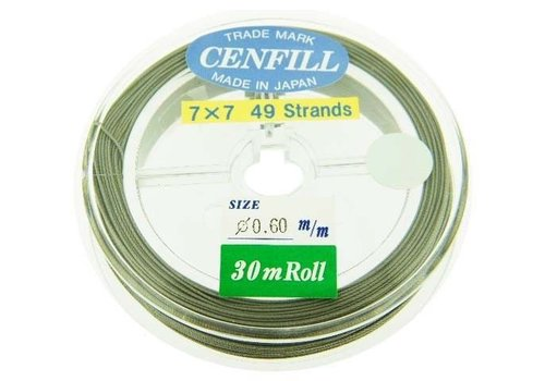 Cenfill Stainless Steel Coated Rope Wire 0.6mm (49 Wires)