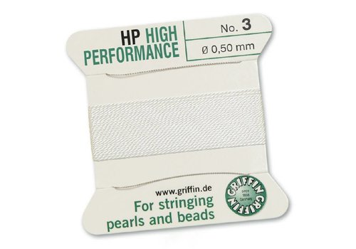 Griffin High Performance 2m 2 needles white 0.50 mm