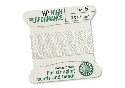 Griffin High Performance 2m 2 needles  white  0.65 mm