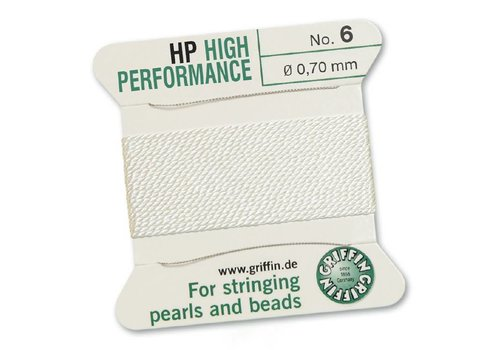 Griffin High Performance 2m 2 needles white  0.70 mm
