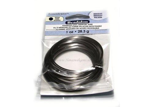 Beadalon stainless steel memory wire bracelet