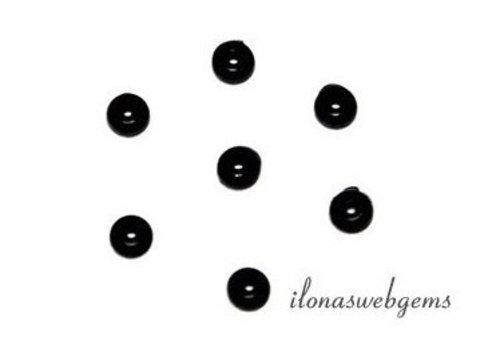 Silicone pads black (alternative voor knopen) 50 pieces
