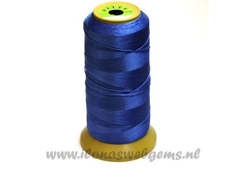 Grote rol rijgdraad blauw