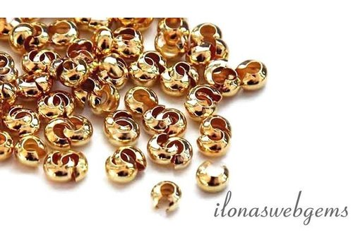 1 piece 14k / 20 Gold filled crimp bead cover approx 2.5mm