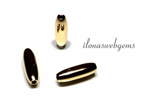 14k / 20 Gold filled bead around 11x3.5mm