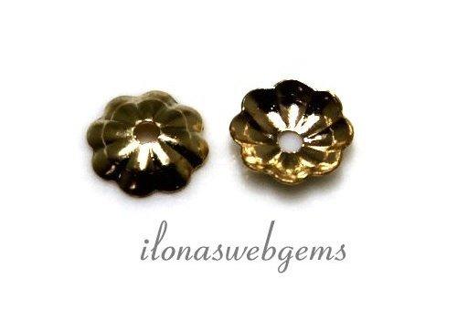 25 Stück 14k / 20 Gold, das gefüllte Perlenkappe