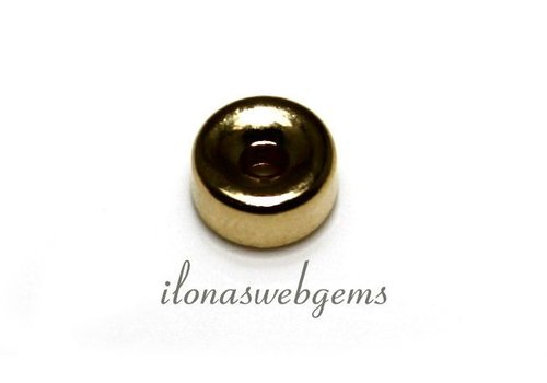 14k/20 Gold filled rondel 7x3.5mm
