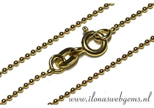 Vermeil ball chain/ketting