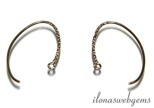 1 pair Gold filled Ear Hooks app. 26mm