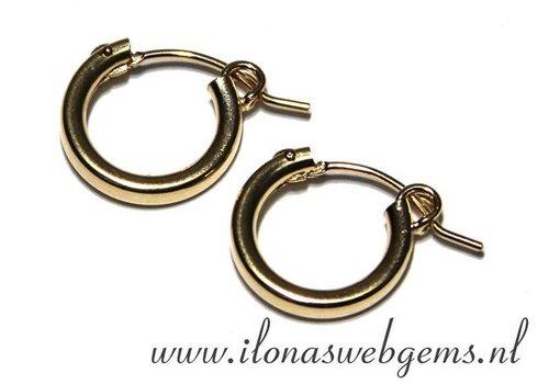 1 pair Goldfilled creolen 13x13x2mm