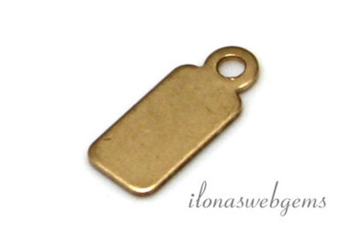 Gold filled labeltje ca. 12x5x0.6mm