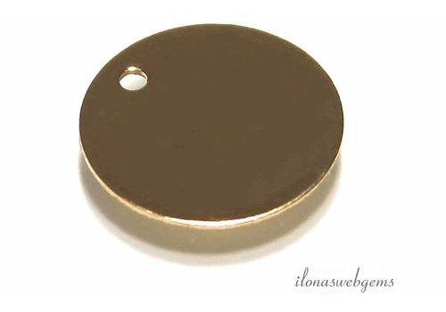 14K / 20 Goldfilled Etikett um 11x0.4mm