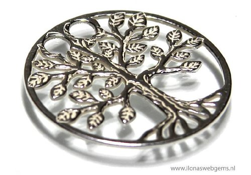 Sterling Silver pendant Tree of life app. 19mm