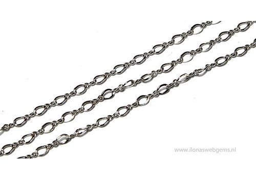 1 cm sterling silver links / chain 2 mm